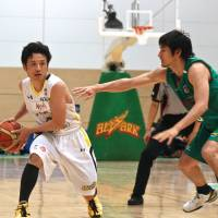 Getting the job done: Link Tochigi Brex guard Yuta Tabuse (left) is averaging 15.1 points and 5.8 assists per game. He has played in all 48 games this season after coping with an assortment of injuries in past campaigns. | KAZ NAGATSUKA