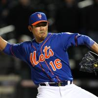Matsuzaka helps preserve Mets' win, could be used to close
