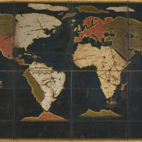 Map of the world, an Important Cultural Property (Azuchi-Momoyama Period 16th century) | PRIVATE COLLECTION