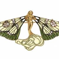 Rene Lalique 'Brooch, Winged Sylph' (c.1900) | THE NATIONAL MUSEUM OF MODERN ART, TOKYO