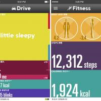 Coupled with a free smartphone app, Jins Meme also monitors the user's steps and burned calories.