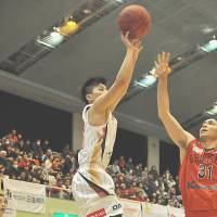Catalyst: Second-year pro Yuki Togashi ignites the high-powered Akita Happinets' offense. | AKITA NORTHERN HAPPINETS/BJ-LEAGUE