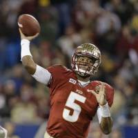Cited: Heisman Trophy winner Jameis Winston of Florida State was given a ticket for shoplifting on Wednesday after taking food from a supermarket deli and not paying for it. | AP
