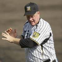 Feels good to be back: Tom O'Malley is in the first season of his second stint as a hitting coach with the Hanshin Tigers. | KYODO