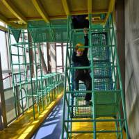 Run through: A large obstacle course for the kids is the perfect way to start a day at Osaka's Big Bang Science Museum. | JASON JENKINS