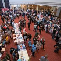 Northern networking: Visitors examine the works at last year's Toronto Comic Arts Festival in Canada.   PAUL HILLIER