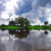 The Amazon is made up of a maze of waterways, large tracts of open land and vast skies.   AP