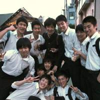 Students from Seijo High School breeze home at the end of their school day.   KIT NAGAMURA