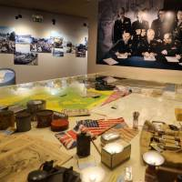 Wartime memories: Artifacts sit on display at the Battle of Normandy Memorial Museum in Bayeux, France. Local officials estimate that several hundred thousand tourists will flock to Normandy this summer to commemorate the 70th anniversary of D-Day. | AP
