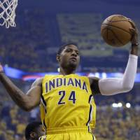 I'm in: Indiana's Paul George will play against Miami in Game 3 of the Eastern Conference finals on Saturday. | AP