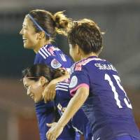 Cream of the crop: Japan is sitting atop its group at the Women's Asian Cup. | KYODO