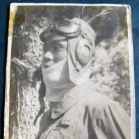 Liu Shu-fa wears his flying outfit in an undated photo from World War II.   KYODO