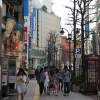 The street known as Koen-dori, which runs past the Parco commercial complex, is one of Shibuya's main shopping areas . | SATOKO KAWASAKI