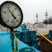 A gas pipeline terminal near Kiev, seen on March 4, 2014. Russia's energy minister told Ukraine on May 8 that the crisis-hit country will have to pay in advance for natural gas due to outstanding debts worth billions of dollars. | AFP-JIJI