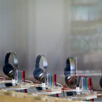 Beats by Dre headphones are displayed for sale with Apple iPods in Santa Monica, California. | BLOOMBERG