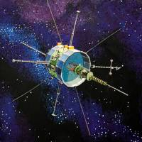 This illustration from NASA shows the International Sun/Earth Explorer-3, launched in 1978 to study solar winds. | AFP-JIJI