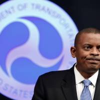U.S. Transportation Secretary Anthony Foxx announces that General Motors will be fined a record $35 million in civil penalties as a result of the automaker's failure to report a safety defect in one of its automobiles, at the Department of Transportation in Washington on Friday. | REUTERS
