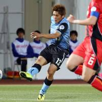 Look who it is: Veteran striker Yoshito Okubo was named to Japan's World Cup squad on Monday. | KYODO