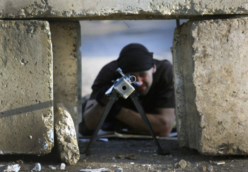 Steelworkers oust pro-Moscow insurgents in eastern Ukraine