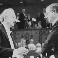 Gary Becker (left) receives the Nobel Economics Prize from Sweden's King Carl Gustaf in Stockholm on Dec. 10, 1992. | AP