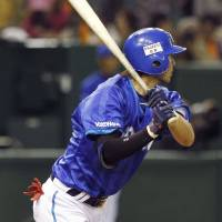 All it took: Takehiro Ishikawa's two-run single in the second inning carried the Yokohama BayStars past the Yomiuri Giants. | KYODO