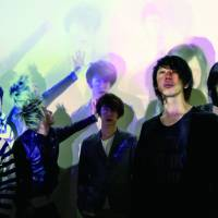 Sound shift: Rock band the Hiatus features a new lineup that includes (from left) Takashi Kashikura, Masasucks, Ichiyo Izawa, Takeshi Hosomi and Koji Ueno. The addition of Izawa on keyboards has led to that instrument becoming more prominent in the group's overall sound.