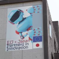 Robot looks toward future of EU and Japan