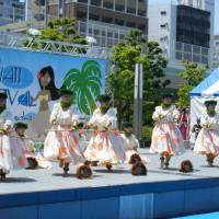 Island joy: A group performs at last year's Hawaii Festival in Osaka.