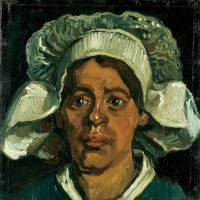 Vincent van Gogh's 'Head of a Woman Wearing a White Cap' (1884-5) | KROLLER-MULLER MUSEUM, OTTERLO, THE NETHERLANDS