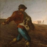 "Jean-Francois Millet's ""The Sower"" (1850) is currently on display at the Nagoya/ Boston Museum of Fine Arts. 