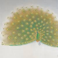 'Peacock Displaying His Wings' (1983) | THE NATIONAL MUSEUM OF MODERN ART, KYOTO