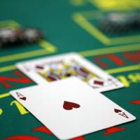 Cards lie on a blackjack table at the Japan Casino School in Tokyo on June 16. | BLOOMBERG