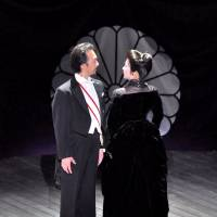 Pair-shaped: Hiroshi Kuroda (left) as Count Kageyama and Yurie Okura as his wife, Asako, the leads in 'Rokumeikan,' a tense skirmish of love and war. | NNTT OPERA