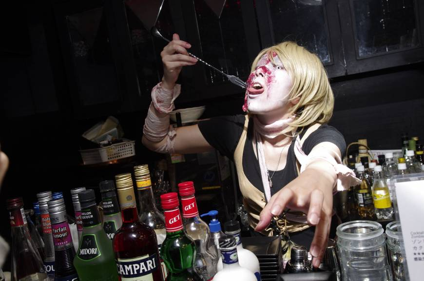 Zombie Drinking Alcohol