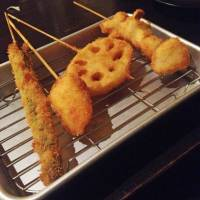 Deep-fried veggies are happiness on a stick