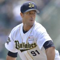 Forza Italia: Buffaloes pitcher Alex Maestri is eagerly tracking the progress of the Italian national team during the 2014 World Cup in Brazil.   KYODO