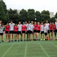 Hold the horses: Sixteen students at the British School in Tokyo are currently running the Nakasendo route between Kyoto and Tokyo to raise funds for construction of a school in Cambodia. | BRIAN CHRISTIAN