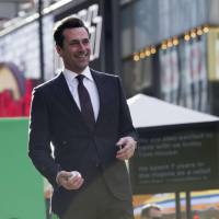 Memorable role: Actor Jon Hamm, seen at the Hollywood premiere of 'Million Dollar Arm,' portrays baseball agent J.B. Bernstein in the recently released film. | REUTERS
