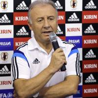 Power struggle: National team manager Alberto Zaccheroni addresses the media in Itu, Brazil, on Saturday. | AP