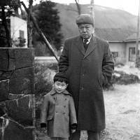 Inspiration: A young Kengo Kuma poses for a photograph with his grandfather.