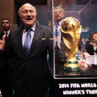 Embattled: FIFA president Sepp Blatter continues to face heavy criticism as he prepares to stand for a fifth term as the leader of soccer's world governing body. | REUTERS