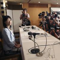 Gender politics: Rep. Ayaka Shiomura attends a news conference at the Foreign Correspondents' Club of Japan in Tokyo on June 24. Much of the media's reporting of last week's sexist remarks said in the Tokyo Metropolitan Assembly was focused on politics rather than actual analysis of sexism in Japanese society. | AP