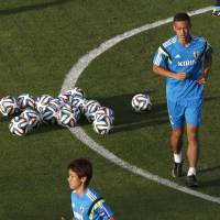 Date with destiny: Keisuke Honda will be instrumental to Japan's chances in the country's fifth straight World Cup this month in Brazil. | AP