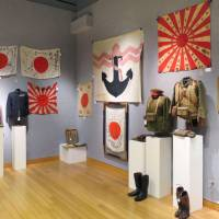 Items related to World War II are displayed Tuesday at Bonhams auction house in New York. | KYODO
