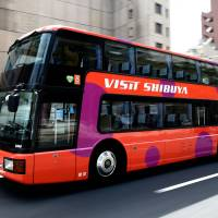 The Visit Shibuya bus will give free English-language tours of Tokyo in July and August while providing free, roving Wi-Fi at the same time. | TOKYU CORP.