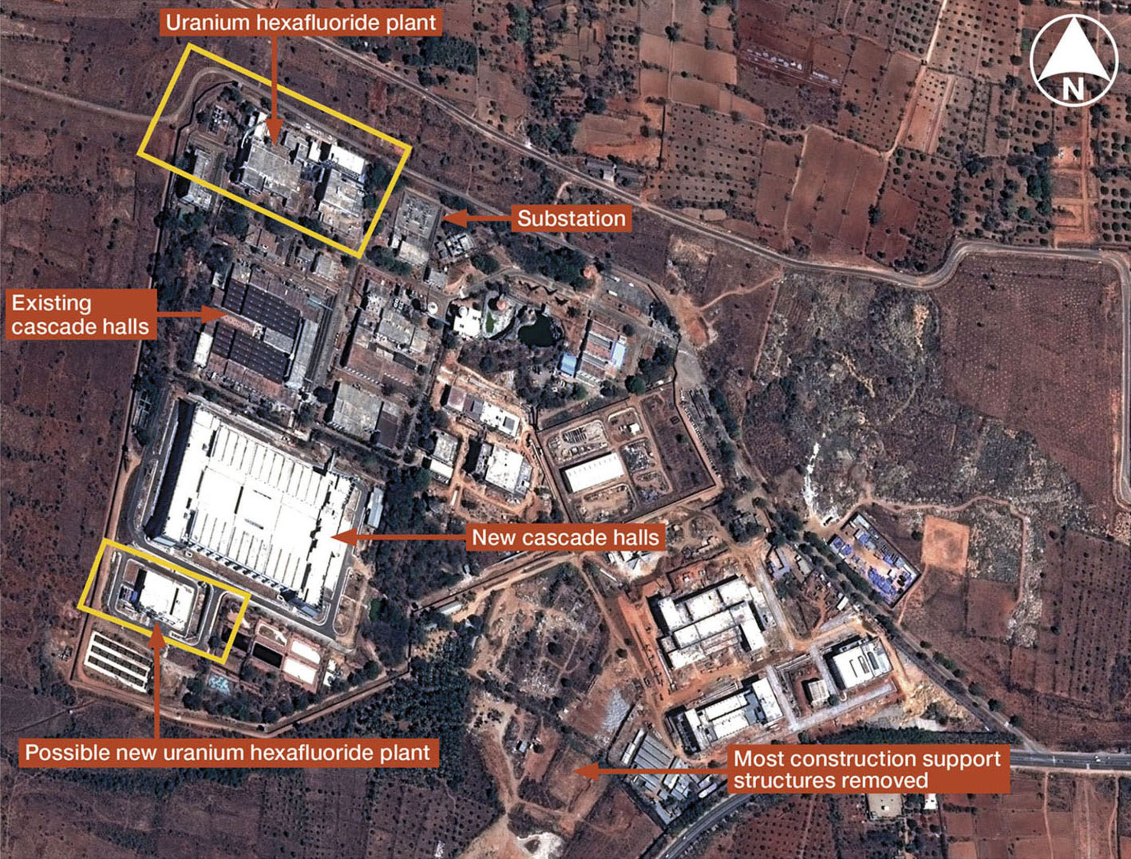 This satellite image provided by the defense research group IHS Jane's shows the Indian Rare Metals Plant near Mysore in the southern Indian state of Karnataka on June 16.   REUTERS