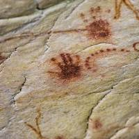 Human handprints in Chauvet Cave | AFP-JIJI