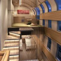 The company plans to have two deluxe suites in the train, one of which is expected to resemble this artist's rendition. | JR EAST