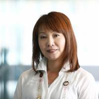 Mie Kurosaka, a Rakuten Inc. executive officer, is interviewed in Tokyo on June 20. | BLOOMBERG