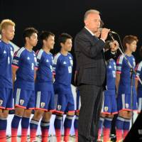 Talking soccer: Zakku kantoku (Coach [Alberto] Zaccheroni) and his Samurai Blue, aka Zakku Japan the Japanese national men's soccer team. | AFP-JIJI